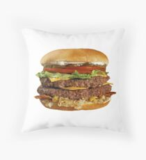 Double Cheese Burger Throw Pillow