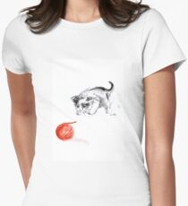Cat and wool cats poster, sumi-e art print T-Shirt
