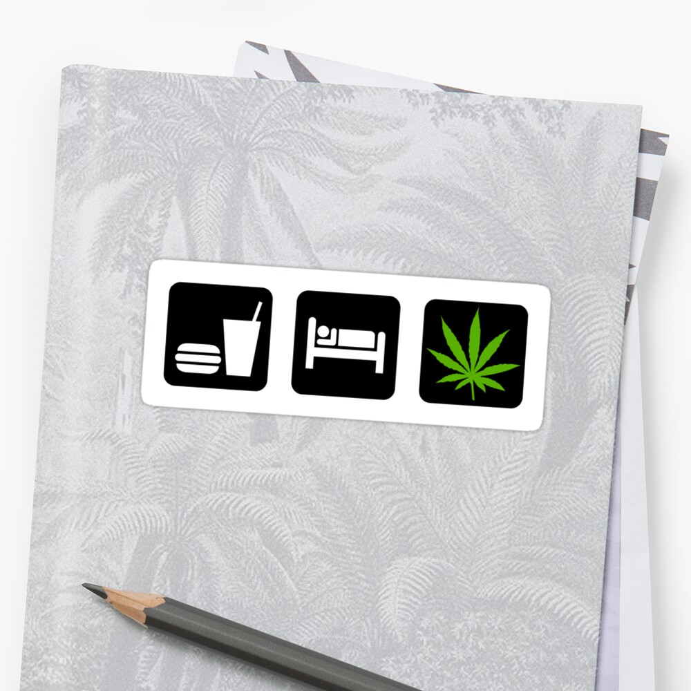 Eat Sleep Smoke Marijuana by MarijuanaTshirt