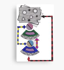 flow chart Canvas Print
