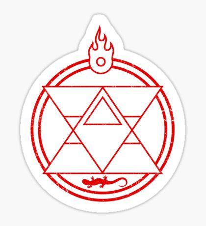 Flame Transmutation Circle - Roy Mustang Sticker