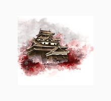 Japanese castle sumi-e painting, japanese art print for sale Unisex T-Shirt