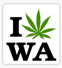 I Marijuana Love Washington Cannabis Sticker