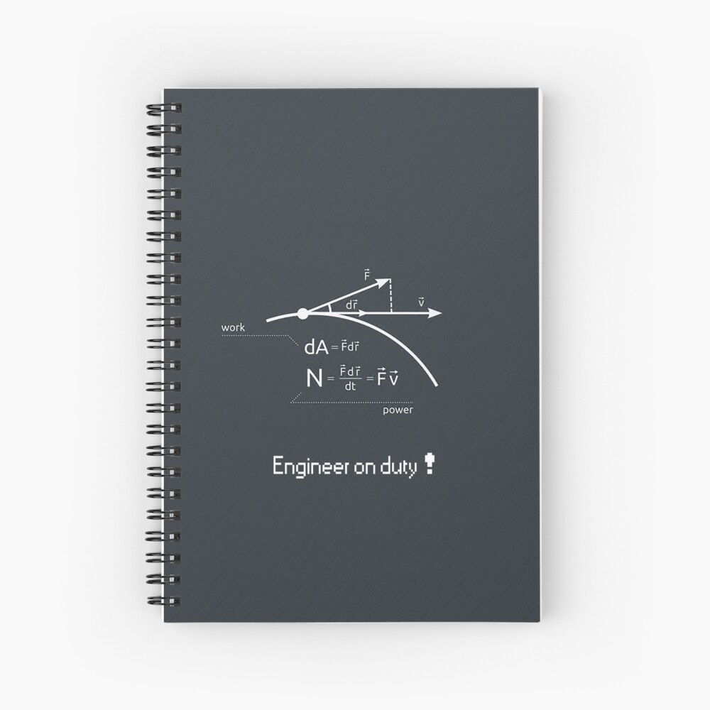 Engineer work = power ! Spiral Notebook