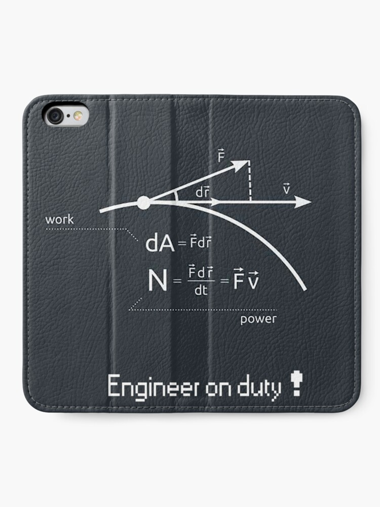 Alternate view of Engineer work = power ! iPhone Wallet