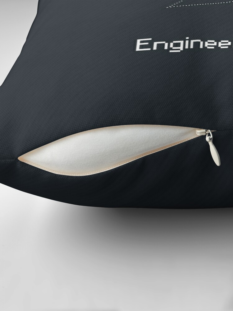Alternate view of Engineer work = power ! Throw Pillow