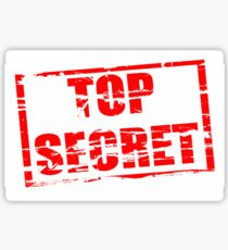 Top secret Sticker