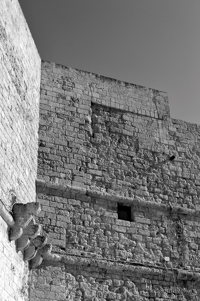 Monochrome fort wall, Puglia by moderntraveller