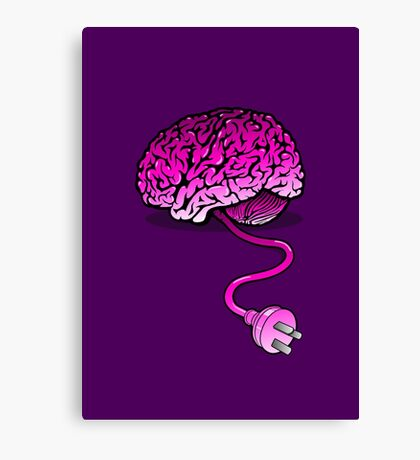 Your Brain without Coffee - Pink Canvas Print