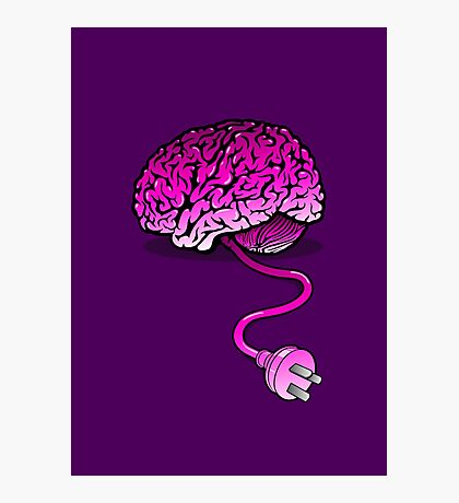 Your Brain without Coffee - Pink Photographic Print