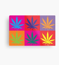 Marijuana Abstract Metal Print