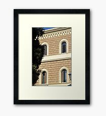 Traditional stone facade, Puglia Framed Print