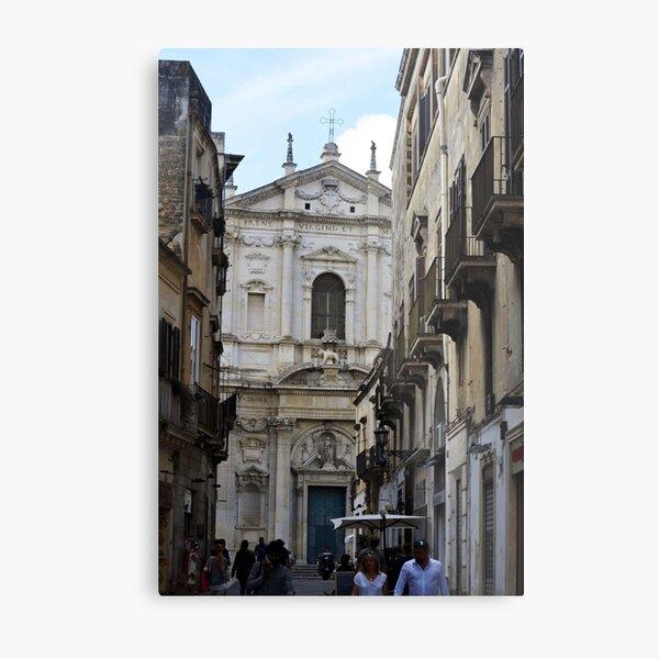 Picturesque street scene in Puglia Metal Print