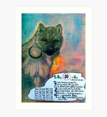 The Dog,;- Chinese Horoscopes, Your Year. Art Print
