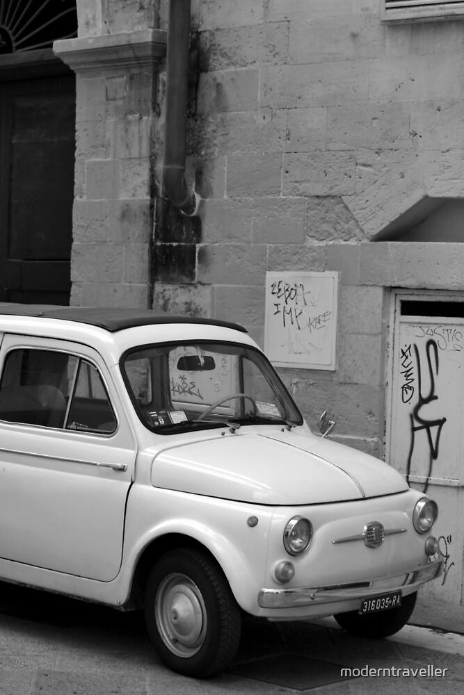 Fiat 500 in the street, Puglia by moderntraveller