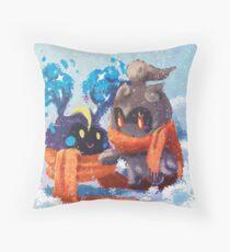 Warm Marshadowy Pews. Throw Pillow