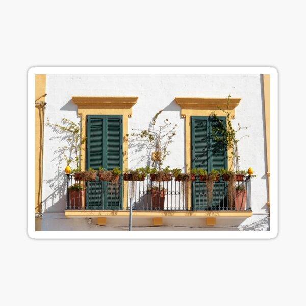 Bright balcony, beautiful shutters - Puglia Sticker