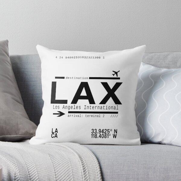 LAX Los Angeles International Airport Throw Pillow
