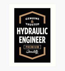 Hydraulic Engineer Logo Tees Art Print