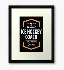 Ice Hockey Coach Logo Tees Framed Print