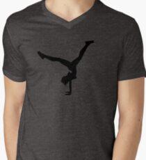 LARA CROFT HANDSTAND (ANGEL OF DARKNESS SILHOUETTE) Men's V-Neck T-Shirt