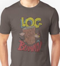 Log by Blammo (Retro Distressed Look). Unisex T-Shirt