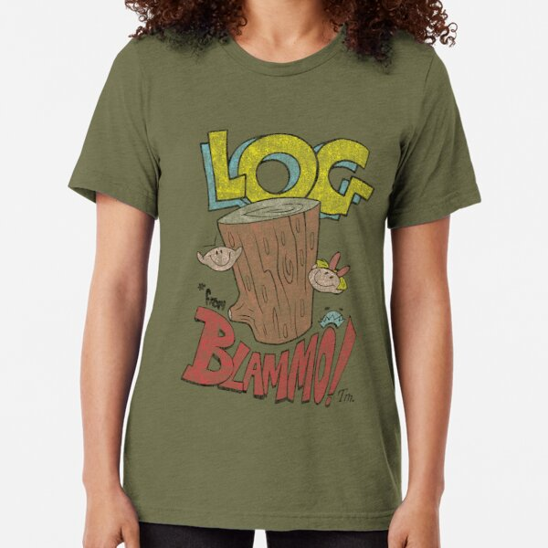 Log by Blammo (Retro Distressed Look). Tri-blend T-Shirt
