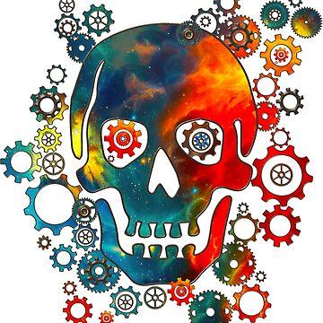 Cráneo, Space Pirate, Cosmos, Galaxy, Universo de boom-art