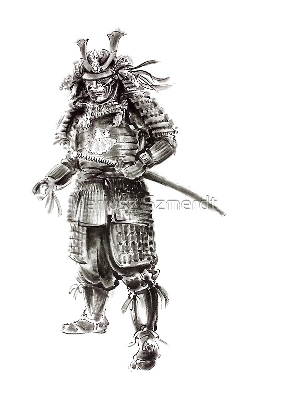 Quot Samurai Old Armor Artwork Japanese Ideas Painting Quot By