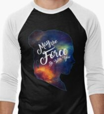 May the Force be With You - Carrie Fisher -Princess Leia Tribute Shirt Men's Baseball ¾ T-Shirt