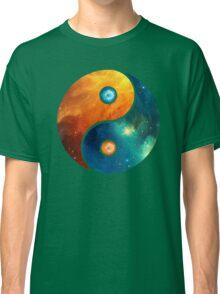Yin Yang, Space, Cosmos, Galaxy, Universe, Outerspace Classic T-Shirt