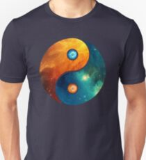 Yin Yang, Space, Cosmos, Galaxy, Universe, Outerspace T-Shirt