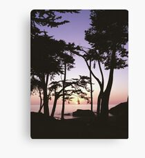California Cove Sunset Canvas Print