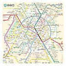 The New Paris Metro Map by Teeter-totter-tam Design