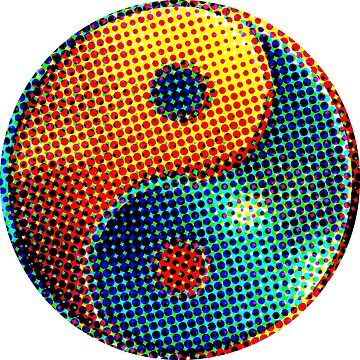Yin Yang, puntos, elementos, fuego, agua de boom-art