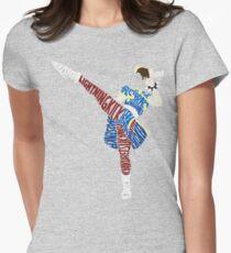 Chun-Li Typography Womens Fitted T-Shirt