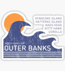 Outer Banks NC Waves Sticker