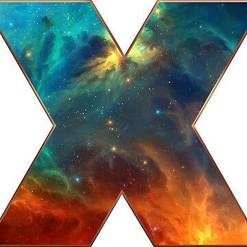 X, espacio, universo, galaxia, cosmos de boom-art