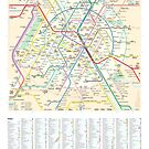 The New Paris Metro Map with Index by Teeter-totter-tam Design