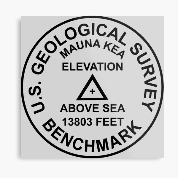 Mauna Kea, Hawaii USGS-Stil-Benchmark Metallbild