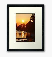 Ryde Sunset Framed Print