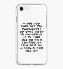 Mewtwo Speech iPhone Case/Skin