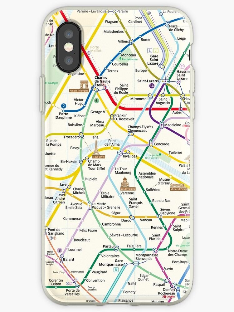 The New Paris Metro Map Iphone Cases Covers By Teeter Totter Tam