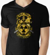 Kick Ass and Chew Bubble Gum! Men's V-Neck T-Shirt