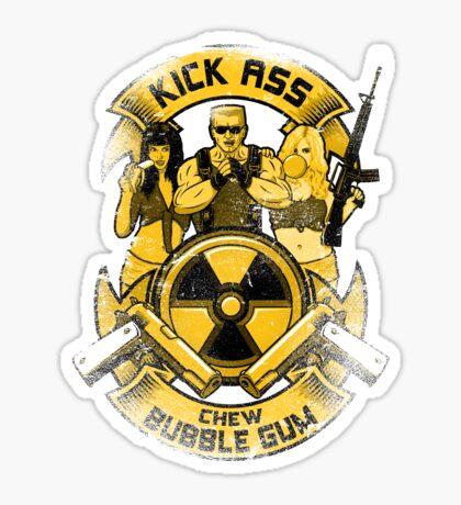 Kick Ass and Chew Bubble Gum! Sticker