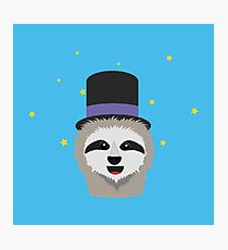 Sloth Wizard with head Photographic Print