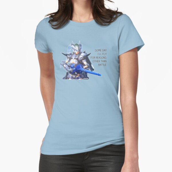 """Earth Defense Force Wing Diver """"Some day I'll fly for reasons other than battle"""" EDF Fitted T-Shirt"""