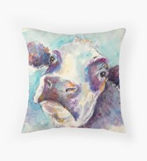 Gentle Cow Throw Pillow