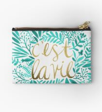 That's Life – Turquoise & Gold Studio Pouch