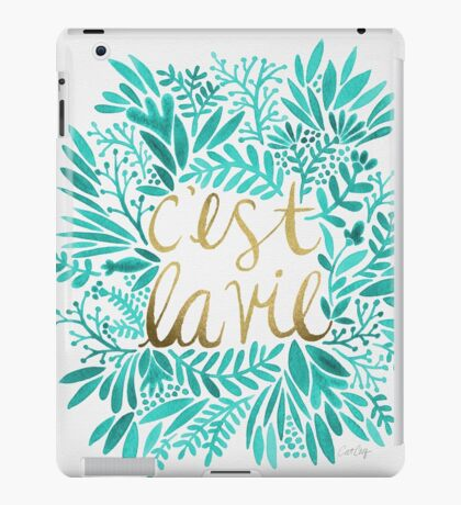 That's Life – Turquoise & Gold iPad Case/Skin